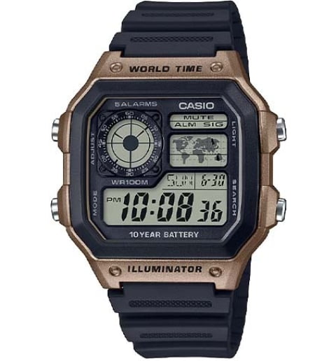 Casio Collection  AE-1200WH-5A с секундомером