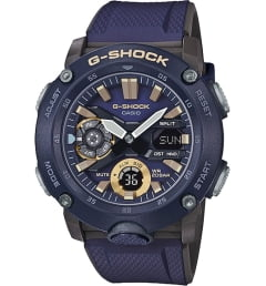 Casio G-Shock GA-2000-2A с синим циферблатом