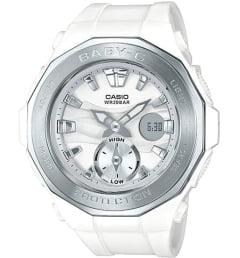 Белые Casio Baby-G BGA-220-7A с белым браслетом