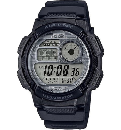 Casio Collection AE-1000W-7A с секундомером