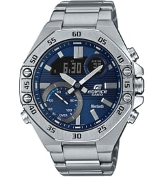 Casio EDIFICE  ECB-10D-2A с синим циферблатом