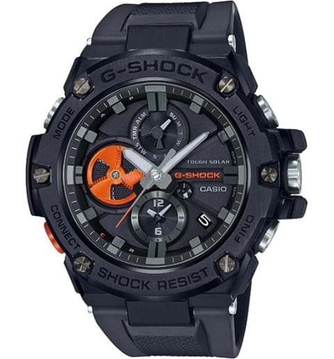 Часы Casio G-Shock  GST-B100B-1A4 с водонепроницаемостью 20 бар
