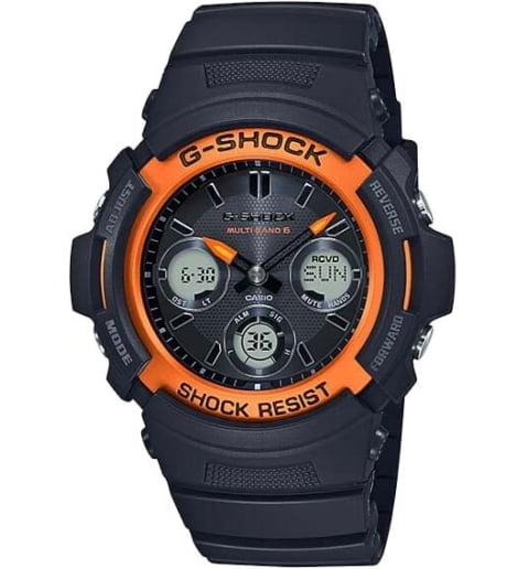 Часы Casio G-Shock  AWG-M100SF-1H4 с водонепроницаемостью 20 бар