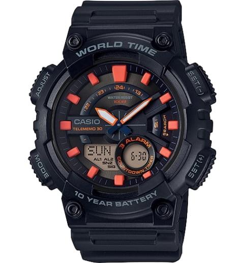 Часы Casio Collection AEQ-110W-1A2 с записной книжкой