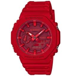 Casio G-Shock GA-2100-4A с красным циферблатом