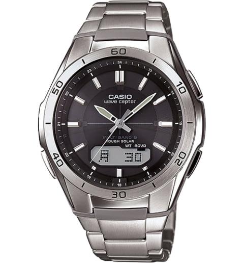 Часы Casio WAVE CEPTOR WVA-M640TD-1A с титановым браслетом