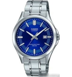 Casio Collection MTS-100D-2A с синим циферблатом