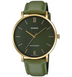 Casio Collection  MTP-VT01GL-3B с зеленым циферблатом