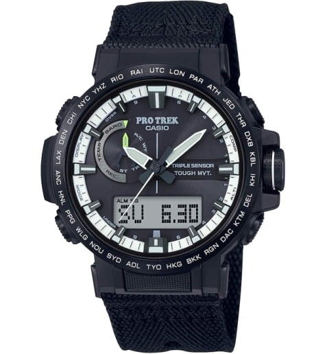 Часы Casio PRO TREK PRW-60YBM-1A на солнечной атарее