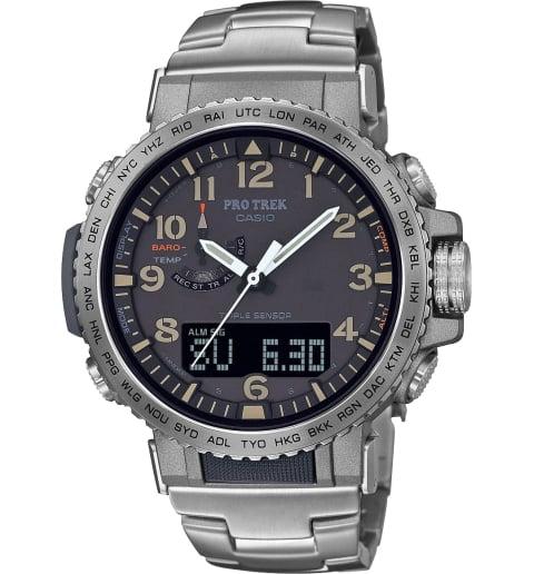Часы Casio PRO TREK PRW-50T-7A с титановым браслетом
