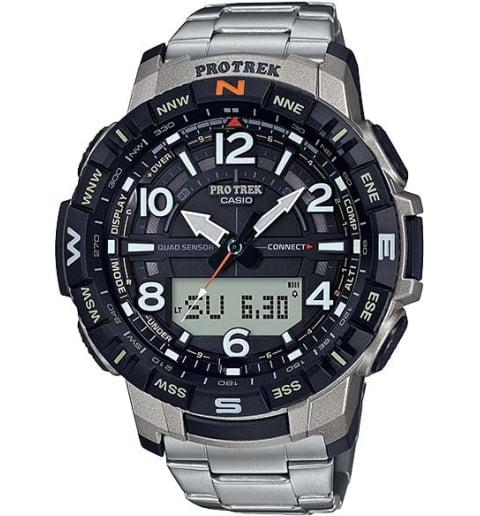 Часы Casio PRO TREK  PRT-B50T-7E с титановым браслетом