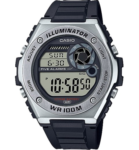 Casio Collection MWD-100H-1A с секундомером