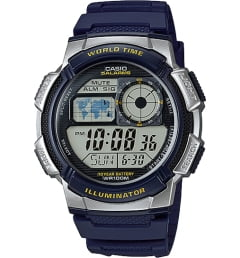 Casio Collection AE-1000W-2A с синим циферблатом