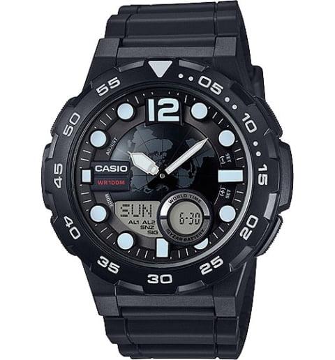 Часы Casio Collection AEQ-100W-1B с записной книжкой