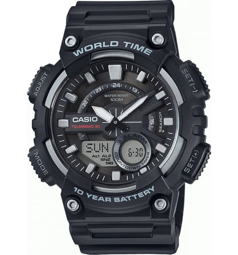 Часы Casio Collection AEQ-110W-1A с записной книжкой