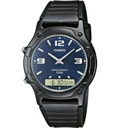 Casio Collection AW-49HE-2A с синим циферблатом