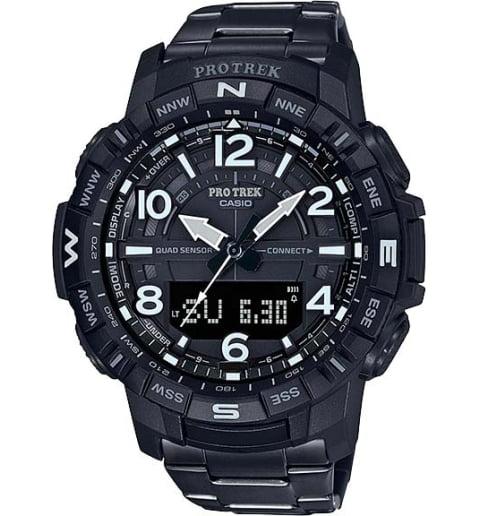 Часы Casio PRO TREK  PRT-B50YT-1E с титановым браслетом