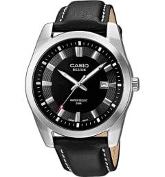 Casio BESIDE BEM-116L-1A с кожаным браслетом