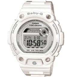 Белые Casio Baby-G BLX-100-7E с белым браслетом