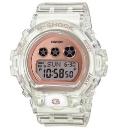 Белые Casio G-Shock  GMD-S6900SR-7E с белым браслетом
