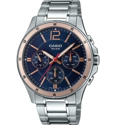 Casio Collection MTP-1374D-2A2 с синим циферблатом