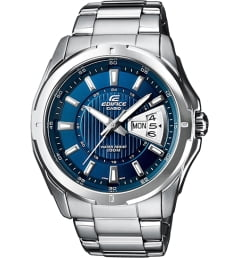 Casio EDIFICE EF-129D-2A с синим циферблатом