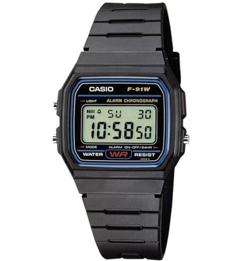 Квадратные часы Casio Collection F-91W-1D