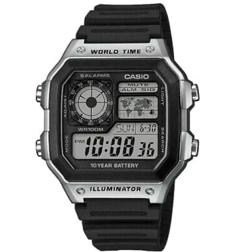 Часы Casio Collection  AE-1200WH-1C Digital