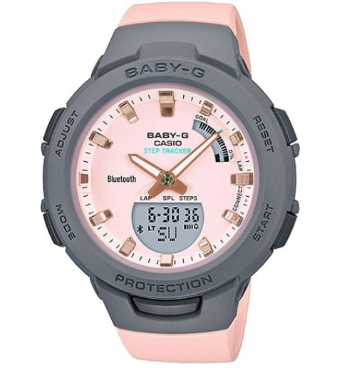 Casio Baby-G BSA-B100MC-4A с секундомером
