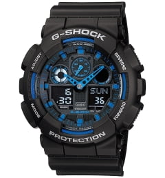 Casio G-Shock GA-100-1A2 с секундомером