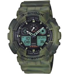 Casio G-Shock GA-100MM-3A с зеленым циферблатом