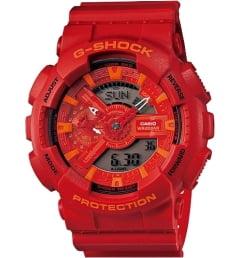 Casio G-Shock GA-110AC-4A с красным циферблатом