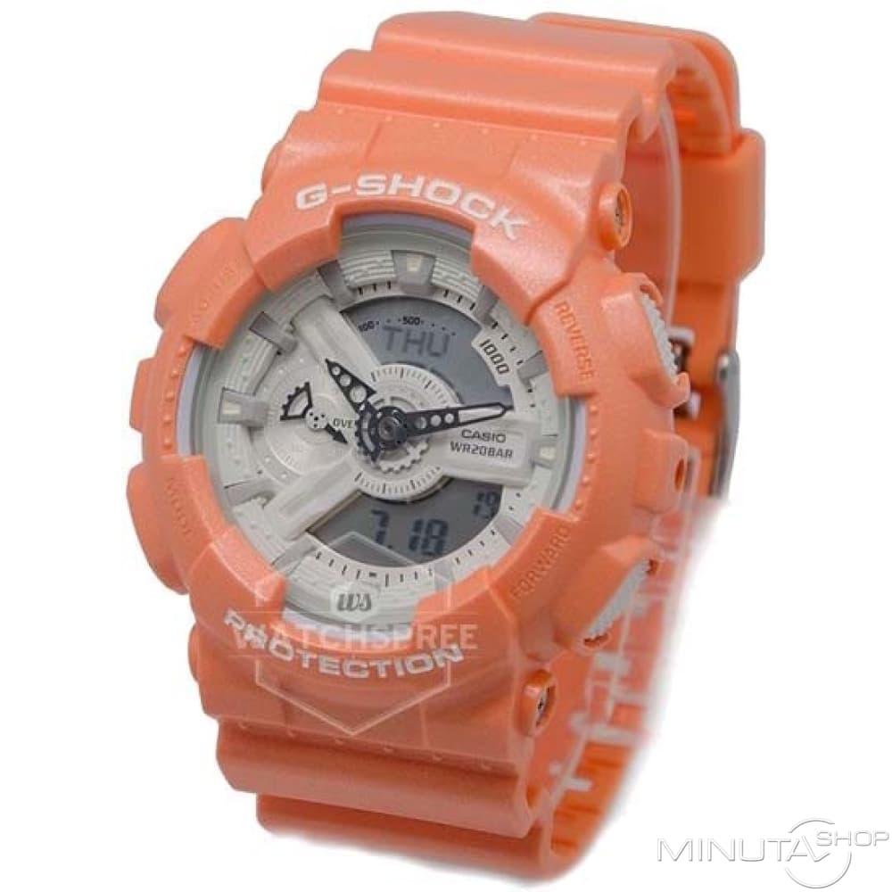 casio menaposs ga110sg4a gshock orange watch
