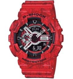 Casio G-Shock GA-110SL-4A с красным циферблатом