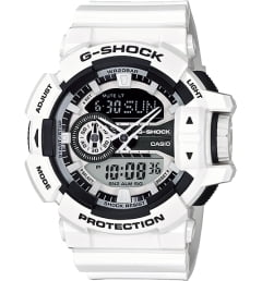 Белые Casio G-Shock GA-400-7A с белым браслетом