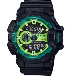 Casio G-Shock GA-400LY-1A с зеленым циферблатом
