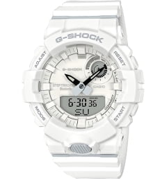 Белые Casio G-Shock GBA-800-7A с белым браслетом
