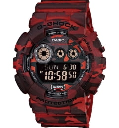 Casio G-Shock GD-120CM-4E с красным циферблатом