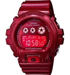 Casio G-Shock GMD-S6900SM-4E с красным циферблатом