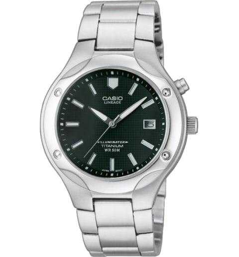 Часы Casio Lineage LIN-165-1B в титановом корпусе