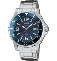 Casio Collection MTD-1053D-2A с синим циферблатом