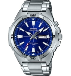 Casio Collection MTP-E203D-2A с синим циферблатом