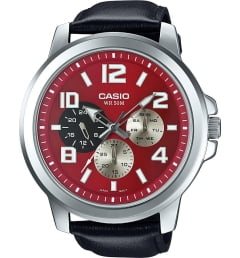 Casio Collection MTP-X300L-4A с красным циферблатом