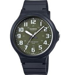 Casio Collection MW-240-3B с зеленым циферблатом