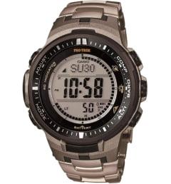 Часы Casio PRO TREK PRW-3000T-7E с титановым браслетом