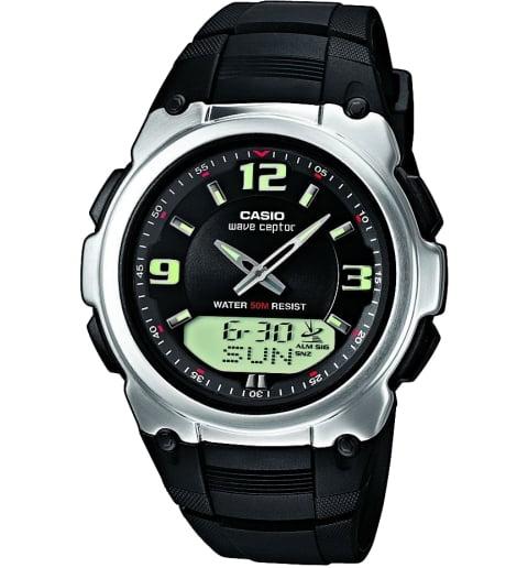 Дешевые часы Casio WAVE CEPTOR WVA-109HE-1B