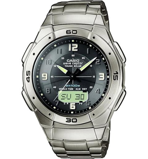 Часы Casio WAVE CEPTOR WVA-470TDE-1A в титановом корпусе