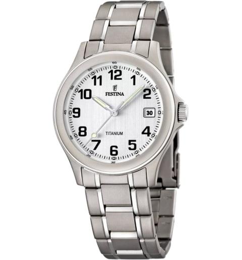 Часы Festina F16458/1 с титановым браслетом