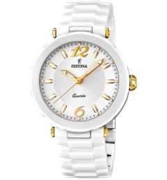 Белые Festina F16640/3 с белым браслетом