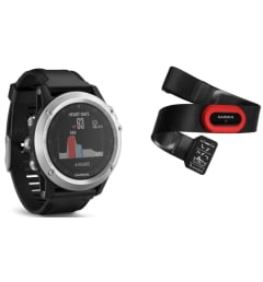 Мужские Garmin Fenix 3 HR Silver с черным браслетом (010-01338-77) с GPS
